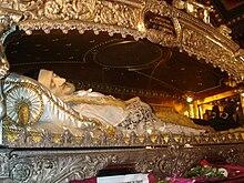 Il corpo di san Vincenzo nella Cappella di San Vincenzo a Parigi