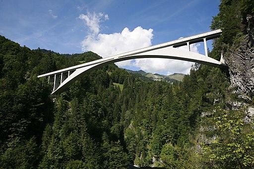 Salginatobelbrücke  bei Schliers (Abstecher der Schweiz Rundfahrt). Salginatobel Bridge