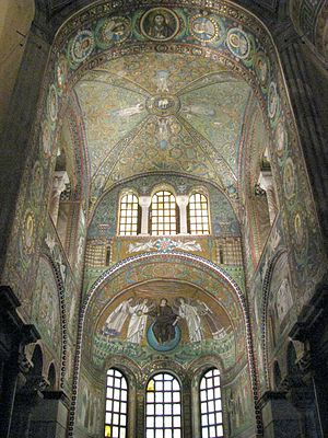 Late Antique and medieval mosaics in Italy - Basilica of San Vitale, Ravenna, 548