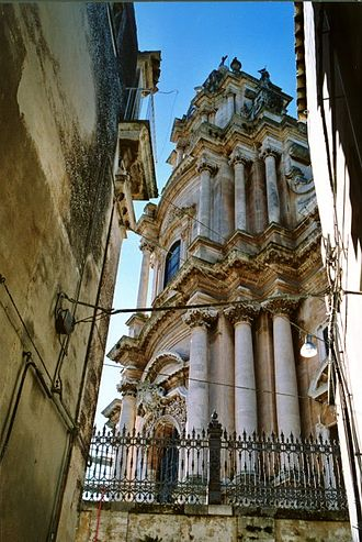 Rosario Gagliardi - Church of San Giorgio, Ragusa. Designed in 1738 by Rosario Gagliardi, it is approached by huge staircase of some 250 steps