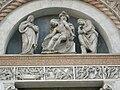 San petronio, portale destro, amico aspertini Cristo deposto, tribolo vergine e San Giovanni di Ercole Saccadenari.JPG