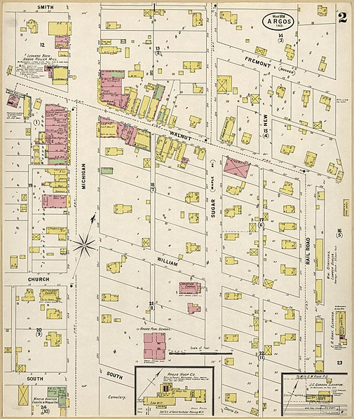 File Sanborn Fire Insurance Map From Argos Marshall County