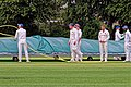 Sandwich Town CC mobile cricket pitch covers at Sandwich, Kent, England 05.jpg