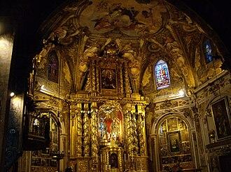 Church of San Nicolás (Valencia) - Main altar of the Church of San Nicolás