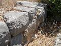 Santuario di Monte Sant'Angelo. Terrazza mediana. Muro in opera poligonale appartenente alla prima fase del santuario (IV sec. a.C.) 3.JPG