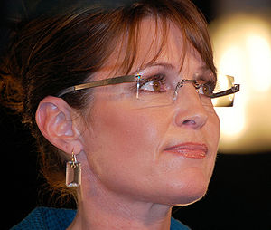 Sarah Palin at a campaign rally in Raleigh, NC.
