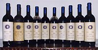 The Super Tuscan wine Sassicaia from the Bolgheri region