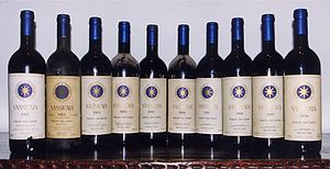 Bottles of Sassicaia