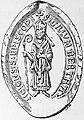 Sceau de l'évêque Bertrand de Chalencon (1212).jpg