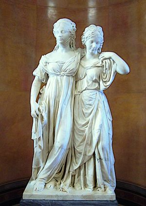 Johann Gottfried Schadow - The Prinzessinengruppe: Schadow's famous statue  of Friederica (right), with her sister, Louise