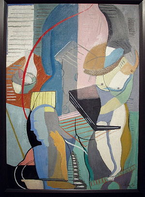 "Louis Schanker - Schanker's ""Abstraction with Musical Instruments"""
