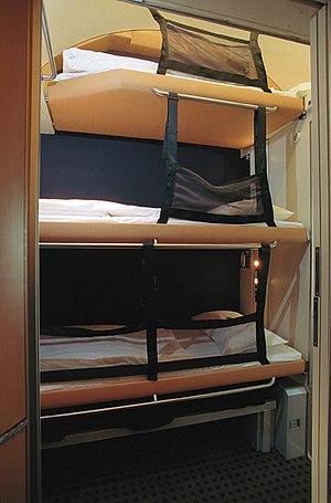 City Night Line - Image: Schlafwagen Comfortline Eco 3er Kindersicherung