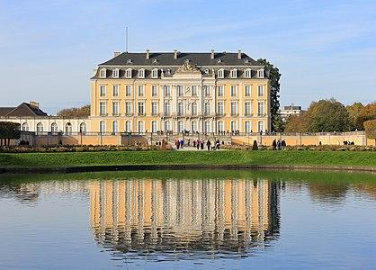 The southern facade of Schloss Augustusburg, Brühl, North Rhine-Westphalia, Germany