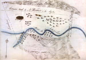 Ranchos of California - Sketch map or diseño of Rancho Providencia, 1840s