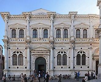 Sante Lombardo - Facade of Scuola Grande di San Rocco.