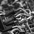 Sea of bicycle handlebars Busstation Amsterdam Sloterdijk square crop bw 2016-09-12-6538.jpg