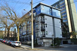 "Microapartment - ""Apodment"" microapartment building, Capitol Hill, Seattle"