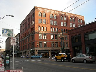 Sam Israel - The Washington Shoe Building, a Samis-owned building in Seattle's Pioneer Square neighborhood.