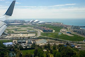Sochi Olympic Park - Aerial view of the park.