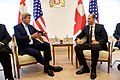 Secretary Kerry and his Delegation Sits with Georgian Foreign Minister Janelidze at the Chancellery in Tbilisi (28024072312).jpg