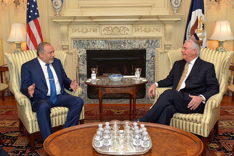Secretary Tillerson Meets With Israeli Defense Minister Lieberman in Washington