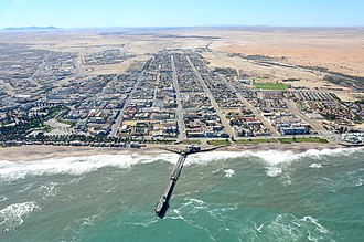 Jetty - Aerial view of Jetty Swakopmund, Namibia (2017)