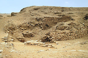 Buried Pyramid - Image: Sekhemkhet pyramid at Saqqara