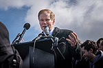 Senator Bill Nelson speaking in front of the US Capitol, part of National Walkout Day (39001227900).jpg