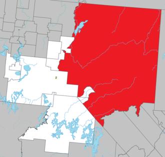 Senneterre, Quebec - Image: Senneterre (city) Quebec location diagram