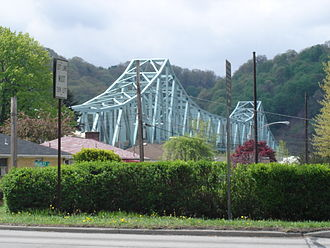 Pennsylvania Route 65 - The Sewickley Bridge seen from PA 65 in Sewickley.