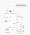 Sexual offences against women in Indian cities - 2015.png
