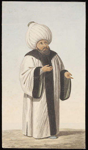 Transformation of the Ottoman Empire - A depiction of a Şeyhülislâm, the chief Islamic religious official in the empire.