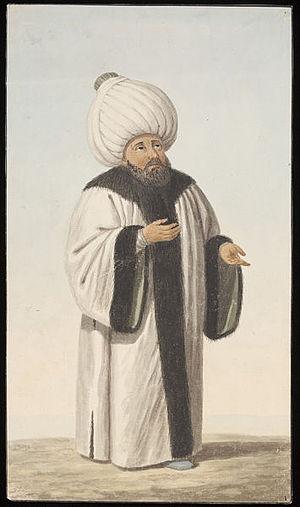 Ulama - Seyh-ül-Islâm, watercolour, ca. 1809