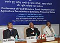 Sharad Pawar, the Minister of State (Independent Charge) for Consumer Affairs, Food and Public Distribution, Professor K.V. Thomas and the Secretary, Agriculture & Cooperation, Shri P.K. Basu.jpg