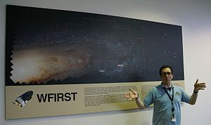 Wide Field Infrared Survey Telescope - Shawn Domagal-Goldman giving a presentation concerning WFIRST.