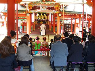 Shichi-Go-San - Shichi-Go-San ritual at a Shinto shrine