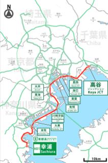 Highway between Kanagawa, Tokyo and Chiba prefecture, Japan