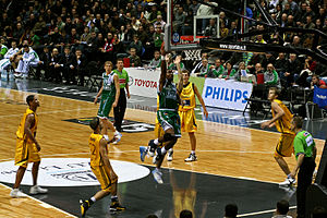 BC Šiauliai - BC Šiauliai playing LKL match versus Žalgiris Kaunas in home arena.