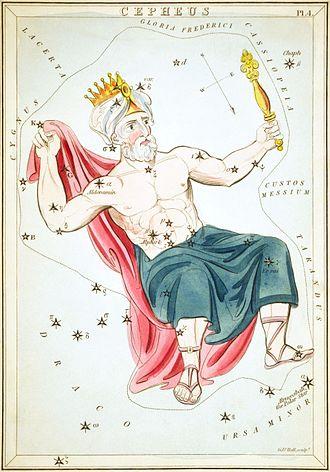 Cepheus (constellation) - Image: Sidney Hall Urania's Mirror Cepheus