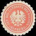 Siegelmarke Der K. Landrath des Kreises Bitburg W0391049.jpg