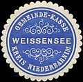 Siegelmarke Gemeinde-Kasse Weissensee - Kreis Niederbarnim W0313898.jpg