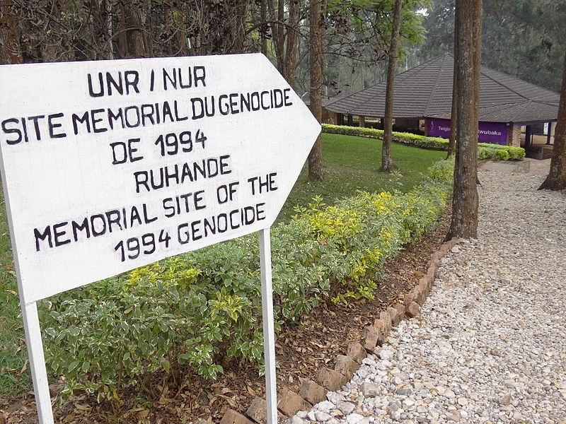 File:Sign for Ruhande Genocide Memorial Site - National University of Rwanda - Huye-Butare - Southern Rwanda.jpg