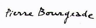 Pierre Bourgeade - Image: Signature Pierre Bourgeade