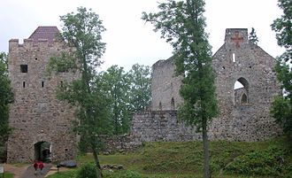 Northern Crusades - Ruins of the castle in Sigulda