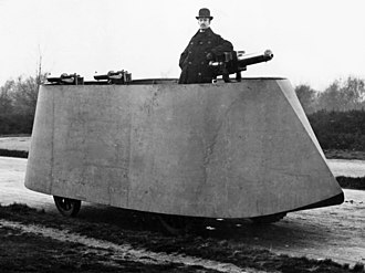 Armored car (military) - F.R. Simms' 1902 Motor War Car, the first armored car to be built.