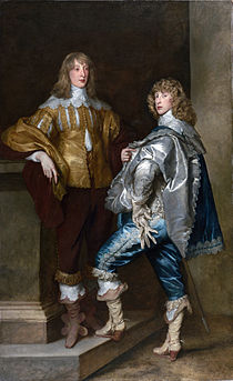 Sir Anthony van Dyck ca.1638, Lord John Stuart and his brother Lord Bernard. Both died fighting for the King