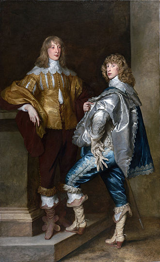 Cavalier - Lord John Stewart, c. 1638 (left), pictured with his younger brother Lord Bernard Stewart (1623–1645), by Sir Anthony van Dyck.