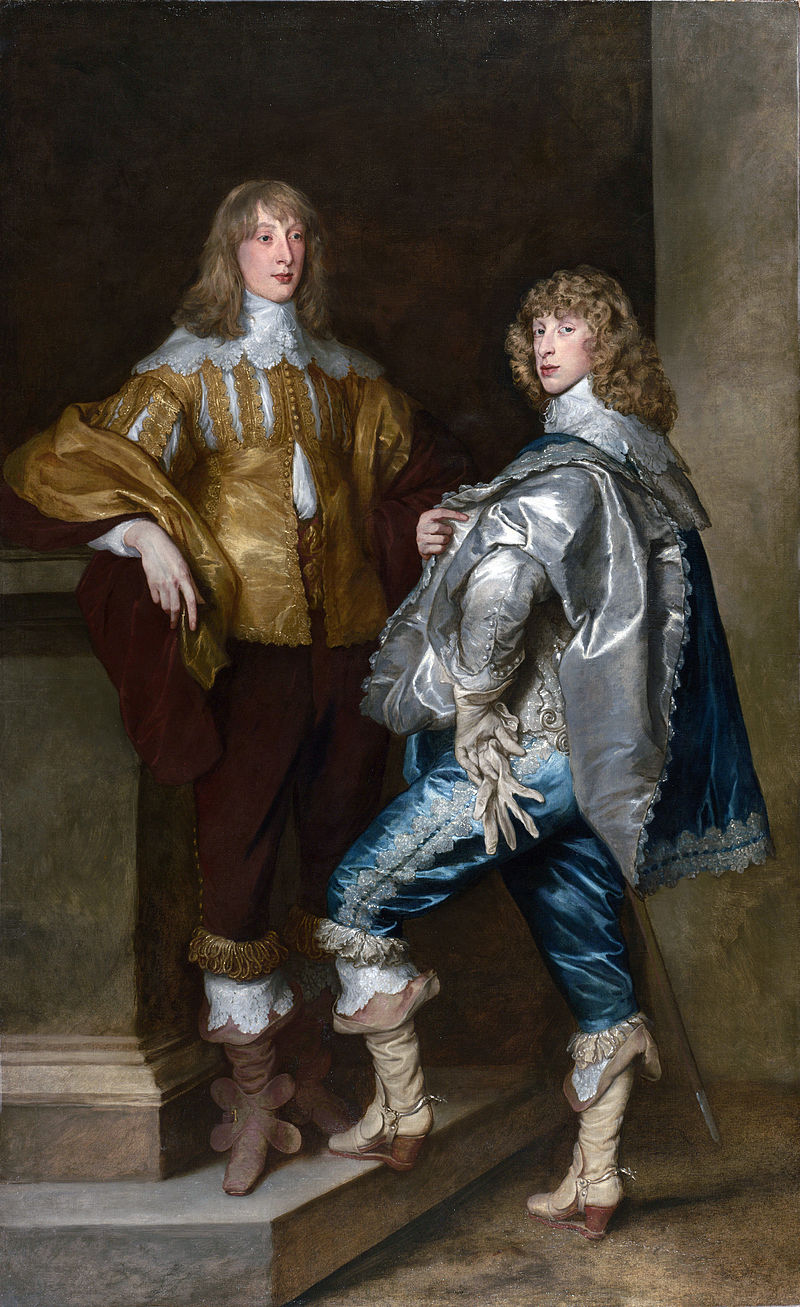 Lord John Stewart, c. 1638 (left), pictured with his younger brother Lord Bernard Stewart (1623–1645), by Sir Anthony van Dyck. 17th Century cavaliers.