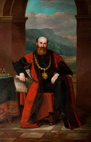 James Horner Haslett - Portrait of Sir James Haslett, as found in City Hall