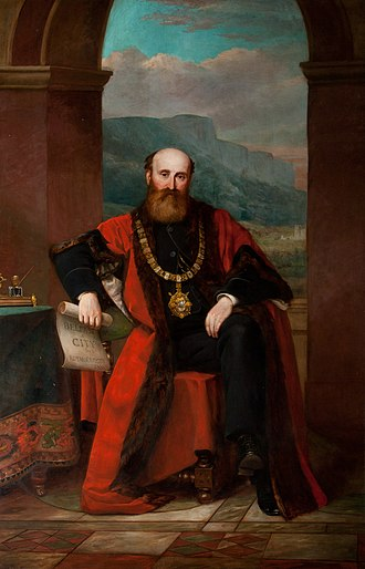 James Horner Haslett - Portrait of Sir James Haslett, as found in City Hall